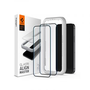 Spigen Tempered Glass ALM FC 2-Pack (iPhone 12 Pro Max)